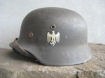 M40 NS66 SD Heer Helmet with Original Normandy Camo Split Pins(HP-02)