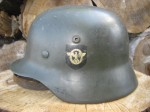 Early Model M35 DD NS64 SS Combat Police Helmet