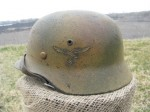 M35 EF66 Luftwaffe Normandy Camo Helmet Shell (Restored)