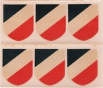6 FRANZ HEIRICH SCHMIDT DRESDEN A1 NATIONAL SHIELD FACEUP DECALS