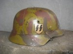 M35 ET66 NORMANDY WAFFEN-SS DD HELMET SHELL/PINS (Restored)