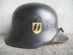 RARE PRE-WAR ALLGEMEINE-SS DROOP-BILL DD ORIGINAL HELMET (Restored)