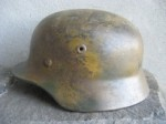 BEAUTIFUL M40 Q68 NORMANDY CAMO HELMET (Restored)