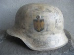 M42 HKP64 EASTERN FRONT WINTER CAMO HELMET (Restored)