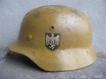M40 Q66 DAK HELMET & FIELD EQUIPMENT (Restored)
