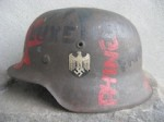 COLOSSAL M42 ET70 2470 VET ART HELMET WITH A FLAWLESS FACTORY DECAL(H-01)