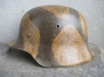 M42 QVL66 NORMANDY SWIRL CAMO HELMET SHELL (Restored)